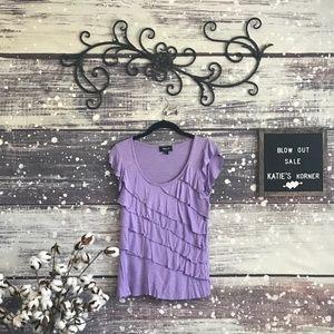 Ruffled Purple Blouse